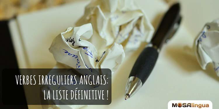 Liste Verbes Irreguliers Anglais Pdf La Liste Definitive A Telecharger Gratuit