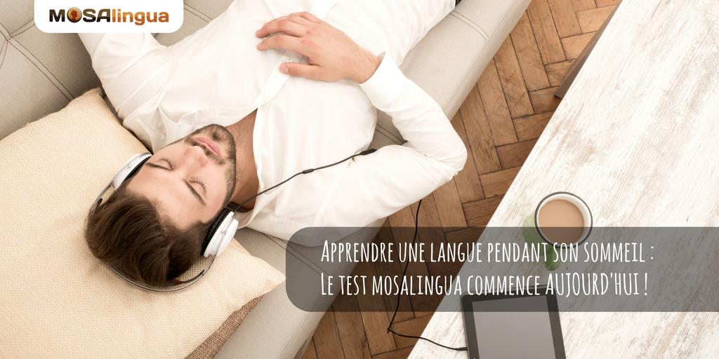 apprendre une langue pendant son sommeil : le test mosalingua