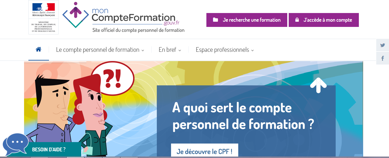 CPF DIF - compte personnel de formation