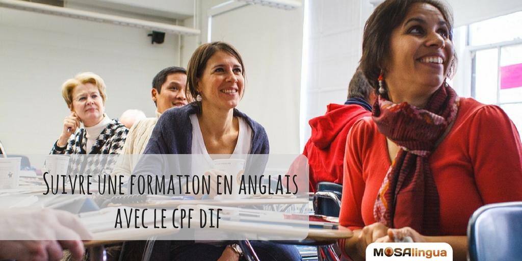 CPF DIF pour suivre une formation en anglais