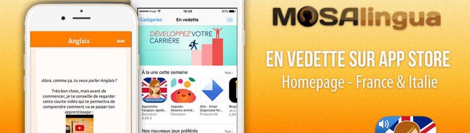 MosaLingua Anglais parmi les meilleures applis de la rentrée en France et Italie Image