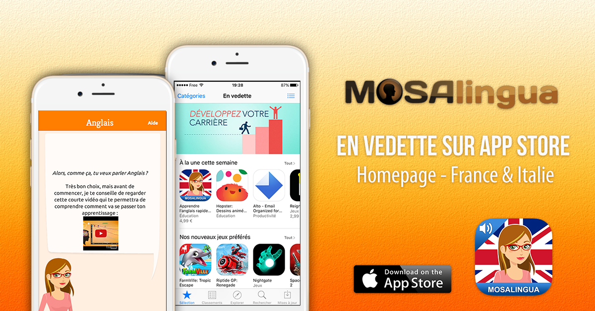 MosaLingua parmi les meilleures applis de la rentrée
