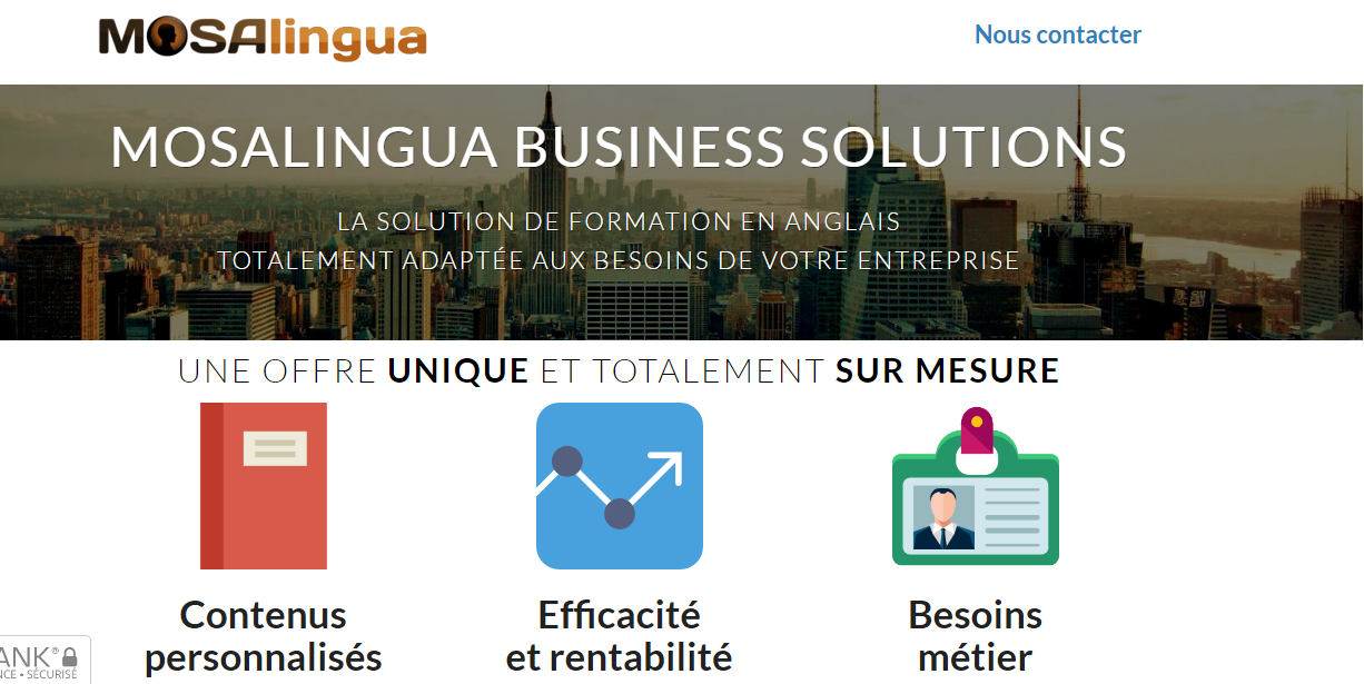 MosaLingua business solutions : formation professionnelle en anglais