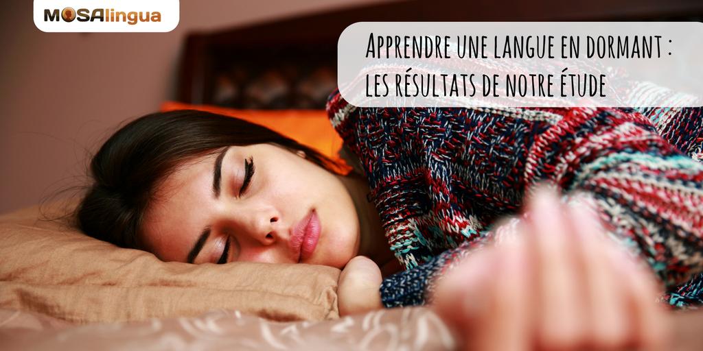 Apprendre une langue en dormant