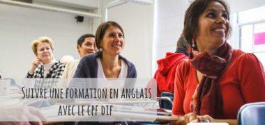 Le CPF DIF pour suivre une formation en anglais