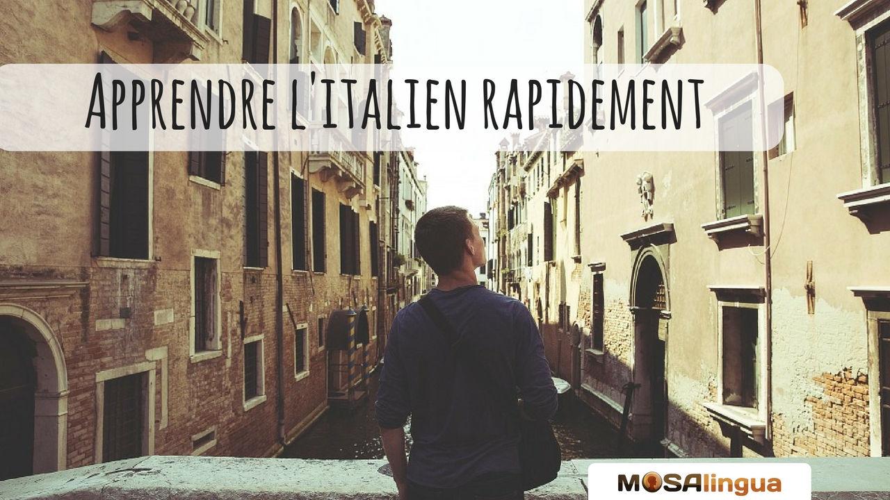 Comment apprendre l'italien rapidement - par MosaLingua