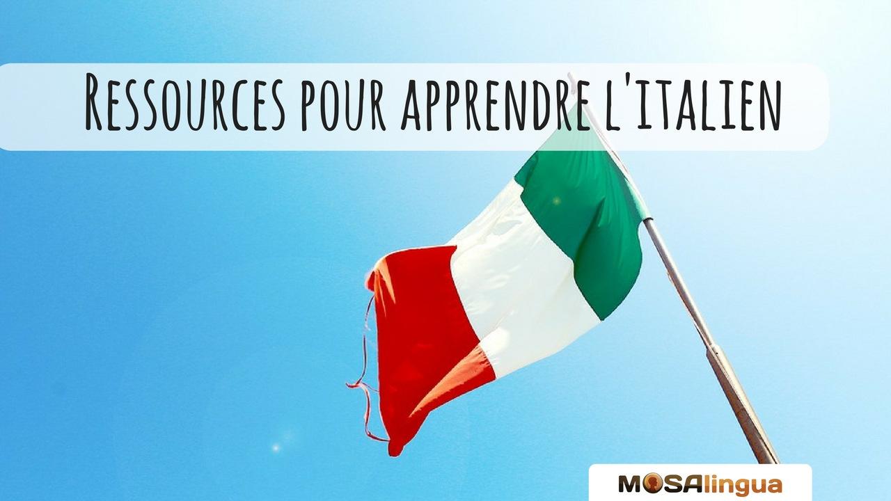 ressources pour apprendre l'italien - MosaLingua