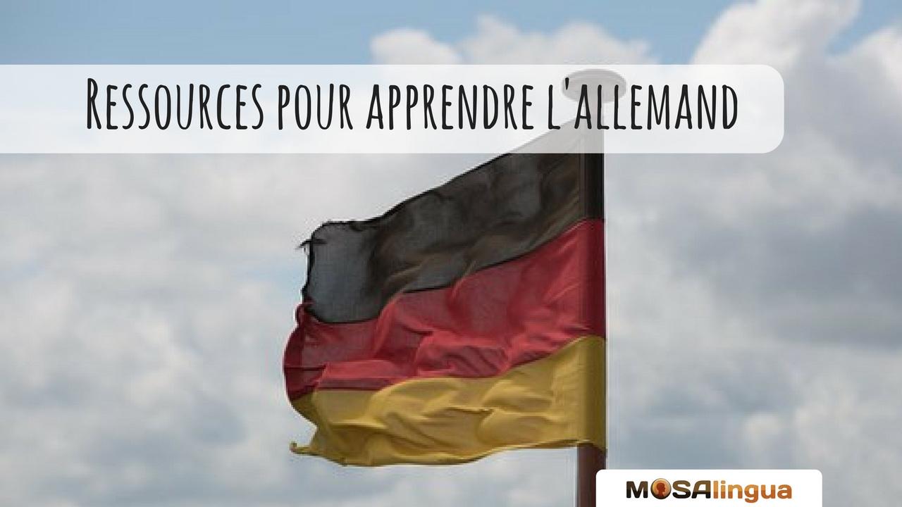 Ressources pour apprendre l'allemand - gratuit