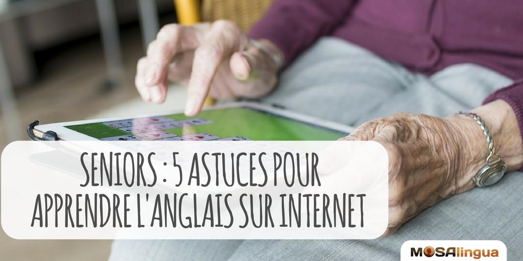 Cours d'anglais seniors : 5 astuces pour apprendre sur Internet ou via application