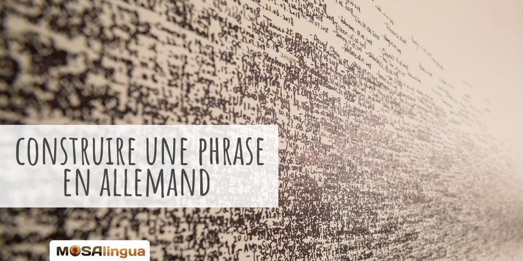 Phrase En Allemand Comment La Structure De Phrase En Allemand